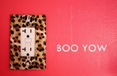 leopard print electrical outlet