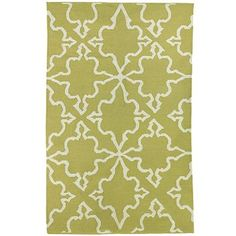 iznik dhurrie rug in citron - kinda like adding a really fresh color to keep the room more modern