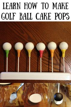 Learn how to make these Golf Ball Cake Pops using mold. With step by step instructions and easy directions, you'll make a ton of them! Golf Themed Cakes, Golf Birthday Cakes, Golf Cakes, 60th Birthday, Birthday Ideas, Birthday Parties, Ball Birthday, Kid Parties, Themed Parties