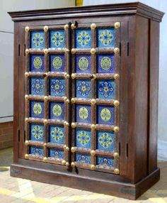 Painted Indian TV Cabinet :D Gorgeous. Bohemian Furniture, Eclectic Furniture, Funky Furniture, Unique Furniture, Repurposed Furniture, Gypsy Home Decor, Indian Home Decor, Indian Ceramics, Indian Room