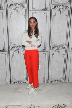Alicia Vikander at the AOL BUILD Speaker Series.
