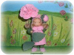 Duftrose Blumenkinder Jahreszeitentisch  von Susannelfes Blumenkinder  auf DaWanda.com
