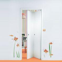 diy comment installer une porte pliante en bois portes pinterest doors divider and door design