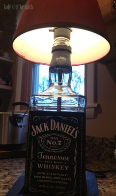 DIY - Build Your Own Whiskey Lamp! Simple steps on how to make the greatest talking piece for your bar