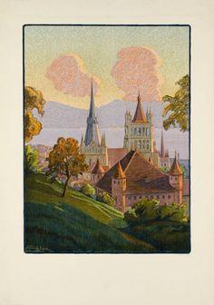 La cathédrale de Lausanne by De Jongh Francis / 1925