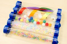 Sensory Art, Books For Boys, Art Activities, Art Supplies, Sprinkles, Packaging, Candy, Montessori, Wrapping