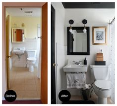 Before and After quick fix bathroom ideas