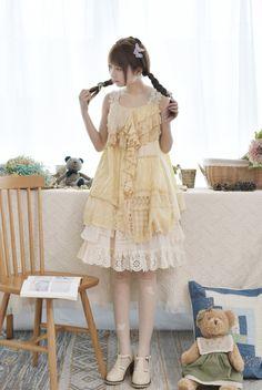 Mori Girl Fashion, Lolita Fashion, Mori Mode, Lolita Mode, Forest Girl, Harajuku Girls, Asian Cute, Whimsical Fashion, Everyday Dresses