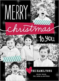 Washi tape, colors, and stars, OH MY! | Sweet Star Collage Christmas Card at Shutterfly.com