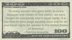 Patricia Arquette Money Quotation saying it's time for wage equality during her acceptance speech for best actress in a supporting role