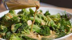 This tasty broccoli salad is taken to a whole new level thanks to the orange tahini dressing. Such a delicious salad dressing that is quick and easy to makes and will make your taste buds party!Broccoli Salad with Orange Tahini Dressing - This tasty broccoli salad is taken to a whole new level thanks to the
