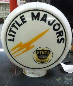 Rare Little Majors Ethyl Gas Globe