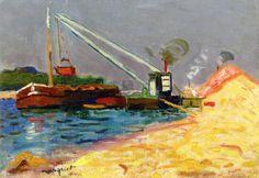 Albert Marquet, unloading sand