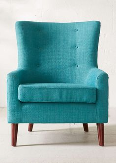 This mid-century-modern inspired Turquoise Frankie Chair features textured, pin-tucked upholstery and stylish tapered wooden legs. A comfy, classic stand-by piece for any space. $379 Sale $279. Fre…