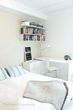 KOTO sisustussuunnittelu: työpöytä makuuhuoneessa