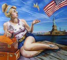 """Cinderella"", 100cm x 90cm, oil on canvas, 2014"
