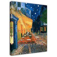 Framed Cafe Terrace - Van Gogh Canvas Abstract Art Giclee Prints Wall Home Decor #yearainn #Abstract