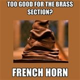 The Music Sorting Hat (Search results for: French horn)
