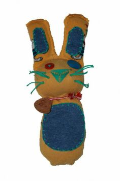 youVE found us, youVE found a way to save the world | BunnySocks.org | this is #84 | fritz, our yellow fellow with this huge blue belly patch – he is an eye catcher. | #upcycle #charity #unique #map #softtoy