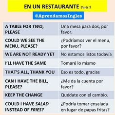 Spanish Phrases, Spanish Words, English Phrases, Learn English Words, French Language Lessons, Spanish Language Learning, Learn A New Language, Teaching Spanish, Spanish Practice