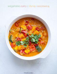 Wegańskie curry z dynią i soczewicą