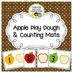"**Updated in July 2016:10 letter-sized math mats were added, with numerals 11 - 20.20 half-page mats were added (Ten 5.5""x11"" apple mats with numbers 1 - 10, and Ten 5.5""x 11""  ""empty"" apple slice mats!Enjoy these fun and colorful playdough mats as they help your students identify numbers and count objects from one to ten.Product Details:Activity Objective:  To provide materials to help students identify numerals from one to ten, and well as count objects from one to ten."