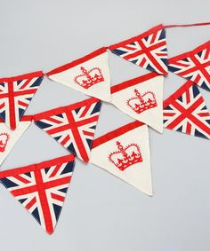 Take a look at this Red Crown & Union Jack Bunting by London Calling ...