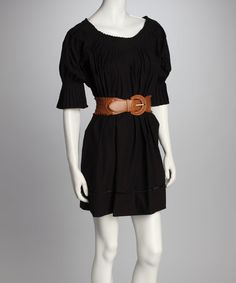 Take a look at this Black Off-Shoulder Tunic by Gretchen Scott on #zulily today!