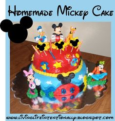 Mickey Mouse Clubhouse Birthday Party Ideas including decorations, crafts, food, DIY homemade cake, games, and MORE!