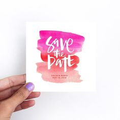 Watercolor Save the Date by Courtney Shelton / HIBRID