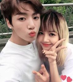 For some time, fans of Jungkook of BTS and Lisa of BLACKPINK suspect that there is a relationship between the two. They even got nominated as a couple at the KCAMéxico awards. In this regard, some. Bts Jungkook, Taehyung, Suga Suga, Jikook, K Pop, Kpop Couples, Swag Couples, Korean Couple, Black Pink Kpop