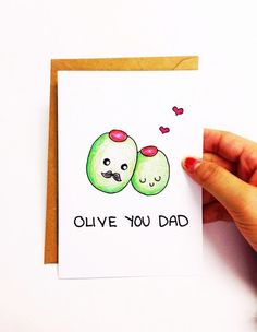 Father's day card funny, funny fathers day card, birthday card dad, dad birthday card for dad, funny card, funny dad card, olive card by LoveNCreativity