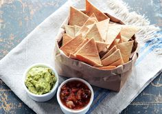 Quick and easy Paleo Tortilla Chips made with almond flour are perfect with homemade guacamole. Gluten-free, grain-free, corn-free --only 4 ingredients!