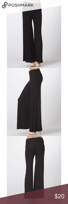 🚨JUST IN🚨✨Black Palazzo Pants✨ ✨Black Palazzo pants✨  👖Comfy bell bottom Wide Bottom  🙆🏻Hippie style  Rayon 95%, Spandex 5% Ships 1-2 business day, I AM A FAST SHIPPER 🛫 YES, these are the real pictures of the item 💁🏻 Sizes available in REGULAR  BRAND NEW merchandise only  MADE IN USA! 🇺🇸 Add it to bundle to save more 💸💰 Pants Wide Leg