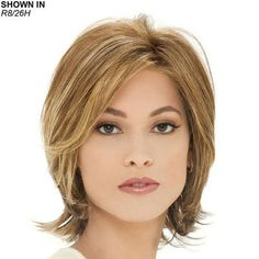 Monika Wig by Estetica Designs is a soft, mid-length layered bob with natural volume.