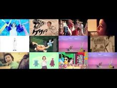 "Mito Natsume / 三戸なつめ - all 12 versions of ""Maegami Kiri Sugita"" at once『前髪切りすぎた-たわし篇-』 - music videos"