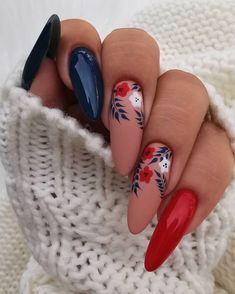Semi-permanent varnish, false nails, patches: which manicure to choose? - My Nails Summer Acrylic Nails, Best Acrylic Nails, Summer Nails, Spring Nails, Hair And Nails, My Nails, Nagel Bling, Nagellack Design, Pretty Nail Art