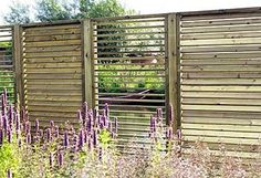 {Perhaps between driveway and neighbours? ~ S} Outdoor Patio Privacy Screen Ideas Garden Privacy Screen, Outdoor Privacy, Garden Fencing, Privacy Screens, Garden Paving, Back Gardens, Outdoor Gardens, Fence Design, Garden Design