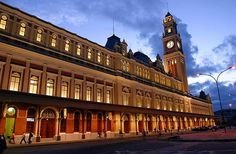 ESTACAO DA LUZ, Sao Paulo, Brazil Created at the end of the 19th century as the main hub for the newly founded São Paulo railway, the Estação da Luz was actually built in Glasgow, disassembled, and then reassembled in São Paulo. At the time, coffee was shipped by railroad, making the station an important throughway for commerce. Though the station was neglected for many years, it was restored in the 1990s and is an important connection for the suburban rail system and the subway.