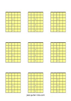 image about Guitar Fretboard Diagram Printable referred to as 13 Least difficult Printable Blank Guitar Fretboard Diagrams photographs inside of