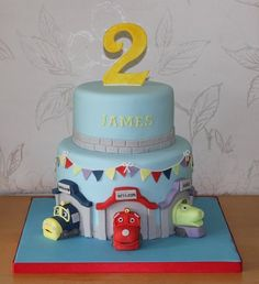 Petes Dragon Bday Cake For My Nephews  Yr Bday Food Ideas - Chuggington birthday cake