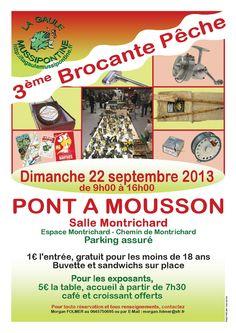 3ème brocante pêche. Le dimanche 22 septembre 2013 à Pont à Mousson.  09H00