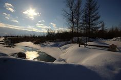 Snowy stream Diving, Paths, Trail, Scenery, Therapy, Sky, In This Moment, Winter, Nature