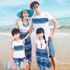 Ropa de vestir lleno de Bohemia del verano de moda de la familia de la madre y la hija de playa de tres en Conjuntos de Ropa de Moda y Complementos en AliExpress.com   Alibaba Group