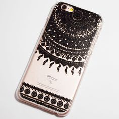 Black Henna Sun Ray Doily iPhone 6 / 6S Hard Case