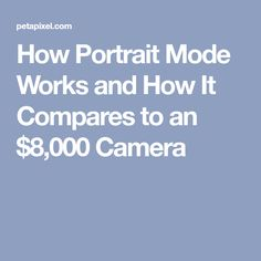 How Portrait Mode Works and How It Compares to an $8,000 Camera