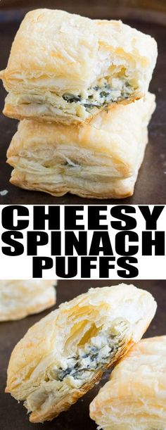 Quick and easy SPINACH PUFFS recipe made with simple ingredients and ready in 30 minutes. This easy appetizer for a party is crispy with a spinach cream cheese filling. Ad From cakewhiz.com #appetizer #partyfood #recipe #spinach