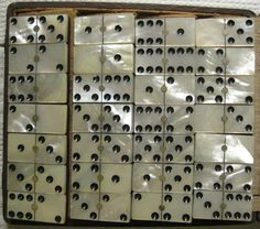 Mouse over image to zoom    Have one to sell? Sell it yourself  Antique mother of pearl Domino, original box.