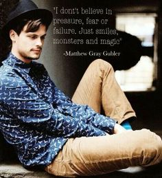 Matthew Gray Gubler- We think a lot a like ;)