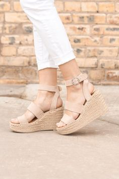 ShopStyle Look by TheWifeyDiaries featuring Dolce Vita Shae Espadrille Wedge Sandal Cute Workout Outfits, Converse, Womens Clothing Stores, Winter Shoes, Affordable Fashion, Wedge Sandals, Summer Sandals, Espadrilles, Wedges